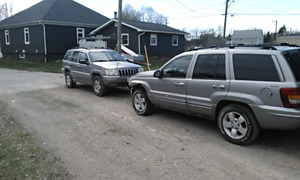 Three Jeep Grand Cherokee's for sale or trade