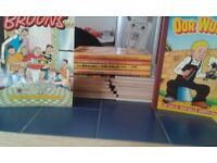 assortment of broons and oor wullie annuals. good condition