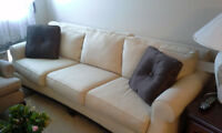 Beautiful - almost new 6 foot sofa