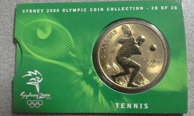 Australia Olympic Game Year 2000 A$5 Commemorative Coin Features Tennis -  UNCIRCULATED & MINT