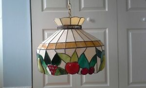 tiffany style stained glass hanging light