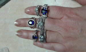 Stamped 925 sterling silver rings