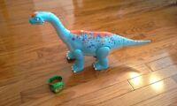 dinosaure qui parle, marche et se lève sur ses pattes