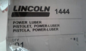 Lincoln High Capacity Power Luber With Spare Battery.