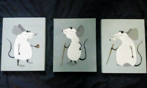 3 Blind Mice hand painted
