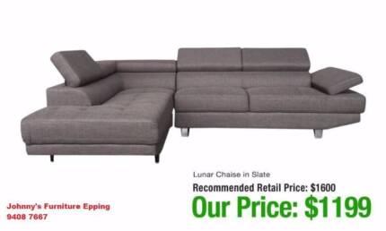 Fabric OR Bonded Leather LUNAR Corner Sofa BRAND NEW