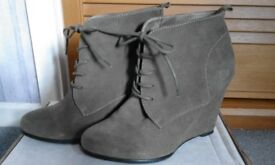 Suede ankle boots size 7