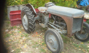 TRACTOR WITH ** SNOW PLOW** plus an addition tractor. Peterborough Peterborough Area image 1