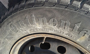 4 CONTINENTAL 225 70 R16 WINTER TIRES NO RIMS West Island Greater Montréal image 2