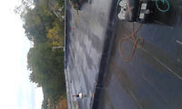 Flat roof and shingles