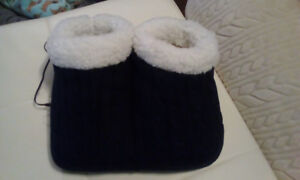 Heated and vibrating slippers