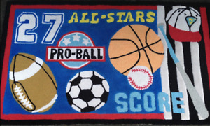 Sports Theme Area Rugs - Set of 3 for $25