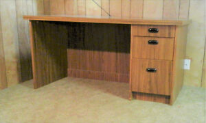 OFFICE DESK, CREDENZA & CHAIRS - MUST GO BY FEB. 28