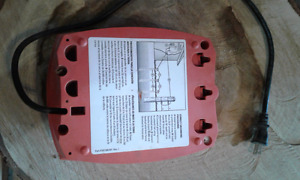 Red snap'r electric fence controller.