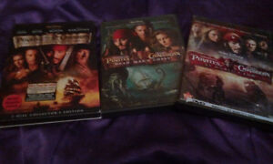 *PIRATES OF THE CARRIBEAN 1,2 AND 3 DVDS*
