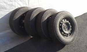 4 CONTINENTAL 225 70 R16 WINTER TIRES NO RIMS West Island Greater Montréal image 1