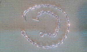 Sterling silver necklace& bracelet