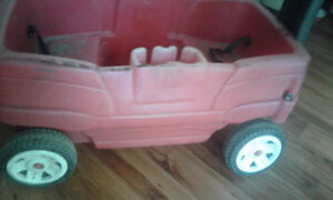 Step 2, red wagon