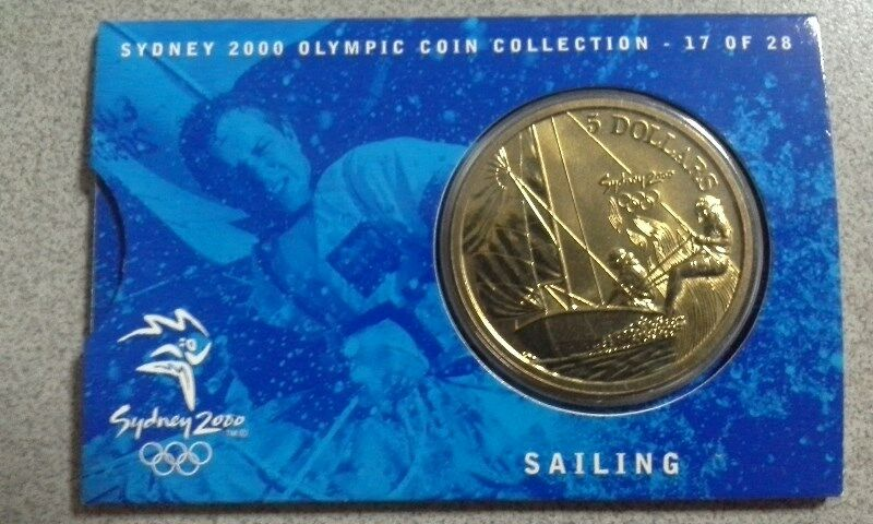 Australia $5 Olympic Game Commemorative Coin of Year 2000 on Sailing Competition - UNCIRCULATED