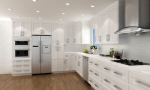 Warehouse Direct Sell Solid Wood Kitchen Cabinets