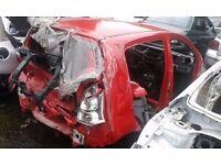 2015 SUZUKI ALTO BARE SHELL IN RED SPARES OR REPAIR