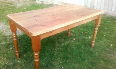 Large solid Pine Country Farmhouse Kitchen Dining Table