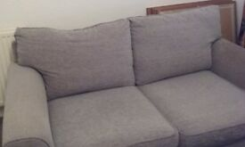 2 Seater Grey Sofa Excellent Condition