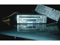 """Car radio with aux """"cd players in out fuse box """"flip off front.with cage also.Goodmans."""