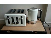 Russell Hobbs 4 slice toaster and kettle