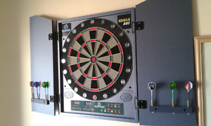 Electronic dart board .