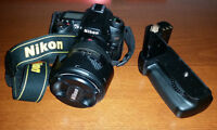 Nikon D90 SLR with battery grip
