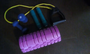 Exercise roller and accessories