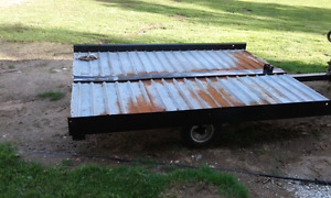 Used double bed snowmobile trailer