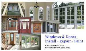 Doors Windows Baseboards & Trims Install Paint Cambridge Kitchener Area image 1