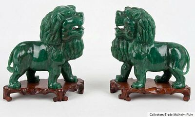 China 20. Jh. Löwen - Two Chinese Hardstone Lions  - Scultura Cinese Chinois