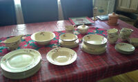Set of old dishes