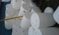 buckets barrels drums tanks