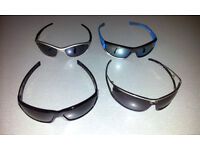 4 PAIRS SUNGLASSES - NIKE, KARRIMOR, STING.... USED IN EXCELLENT CONDITION