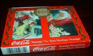 Coca Cola Playing Cards   2 Decks in Metal Box