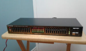 Pyramid 10 Band Stereo Graphic Equalizer with Spectrum DisplayE