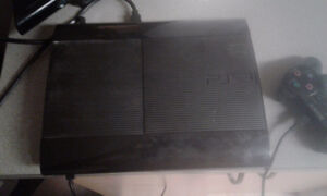 Ps3 slim 500g with 3 games Strathcona County Edmonton Area image 1