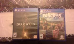 Dark souls remastered and Farcry 5 ps4