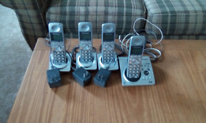 Panasonic cordless phones with 4 handsets