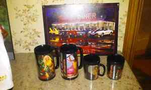 RARE SNAP-ON CUPS & DINNER FRAME