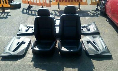 VAUXHALL ASTRA H MK5 ELITE 5 DOOR BLACK LEATHER SEATS + DOOR CARDS 2005-2010