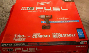 SOLD!! M18 MILWAUKEE 2863-22 HIGH TORQUE 1/2 INCH IMPACT WRENCH