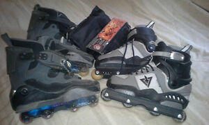 2 pairs of skates and pads!