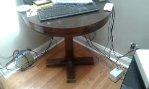 Small round library table
