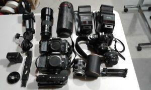 VINTAGE CAMERA EQUIPMENT,MINOLTA AND PENTAX