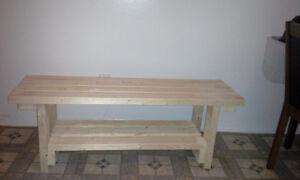 Handmade Wood Benches